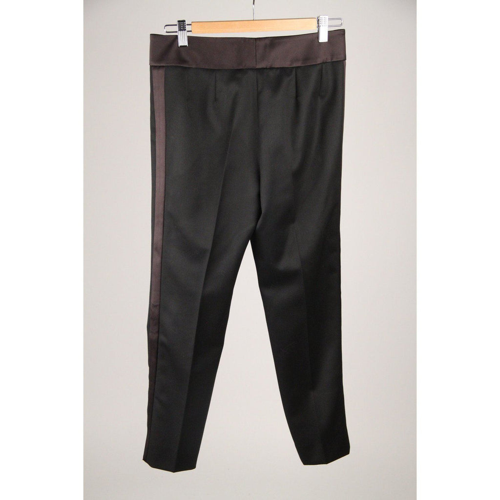 Yves Saint Laurent Black Wool Tuxedo Trousers Pants Size 40 Opherty & Ciocci