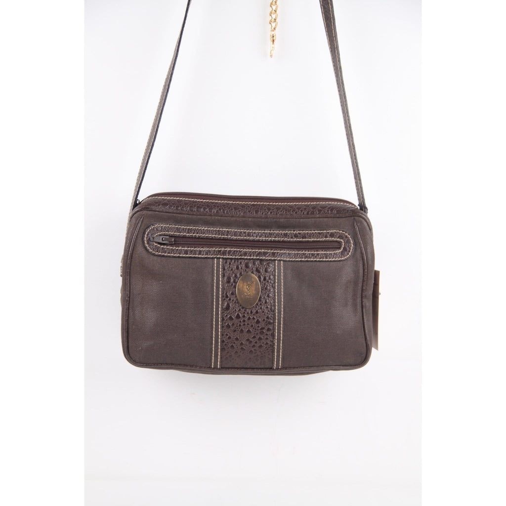 Brown Canvas Messenger Shoulder Bag Opherty & Ciocci