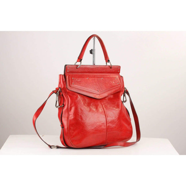 Leather Large Flap Bag Satchel Opherty & Ciocci