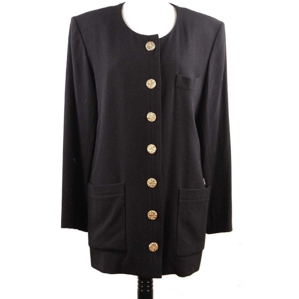 Yves Saint Laurent Rive Gauche Vintage Black Blazer Medium Jacket Opherty & Ciocci
