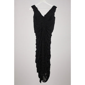 Silk Ruched Little Black Dress Opherty & Ciocci