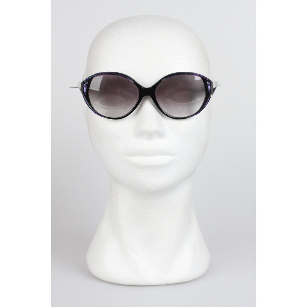 YVES SAINT LAURENT Vintage Black IRIS 867 SUNGLASSES 52 mm