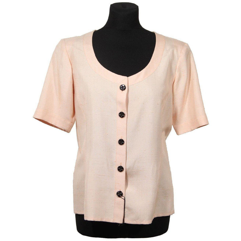 Yves Saint Laurent Vintage Pink Blouse Short Sleeve Light Jacket Opherty & Ciocci