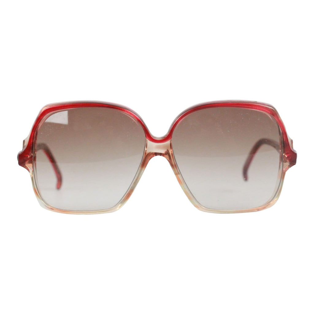 364e9efe04 Vintage Red Oversized Mint Sunglasses Mod. Aurantiaca Opherty   Ciocci