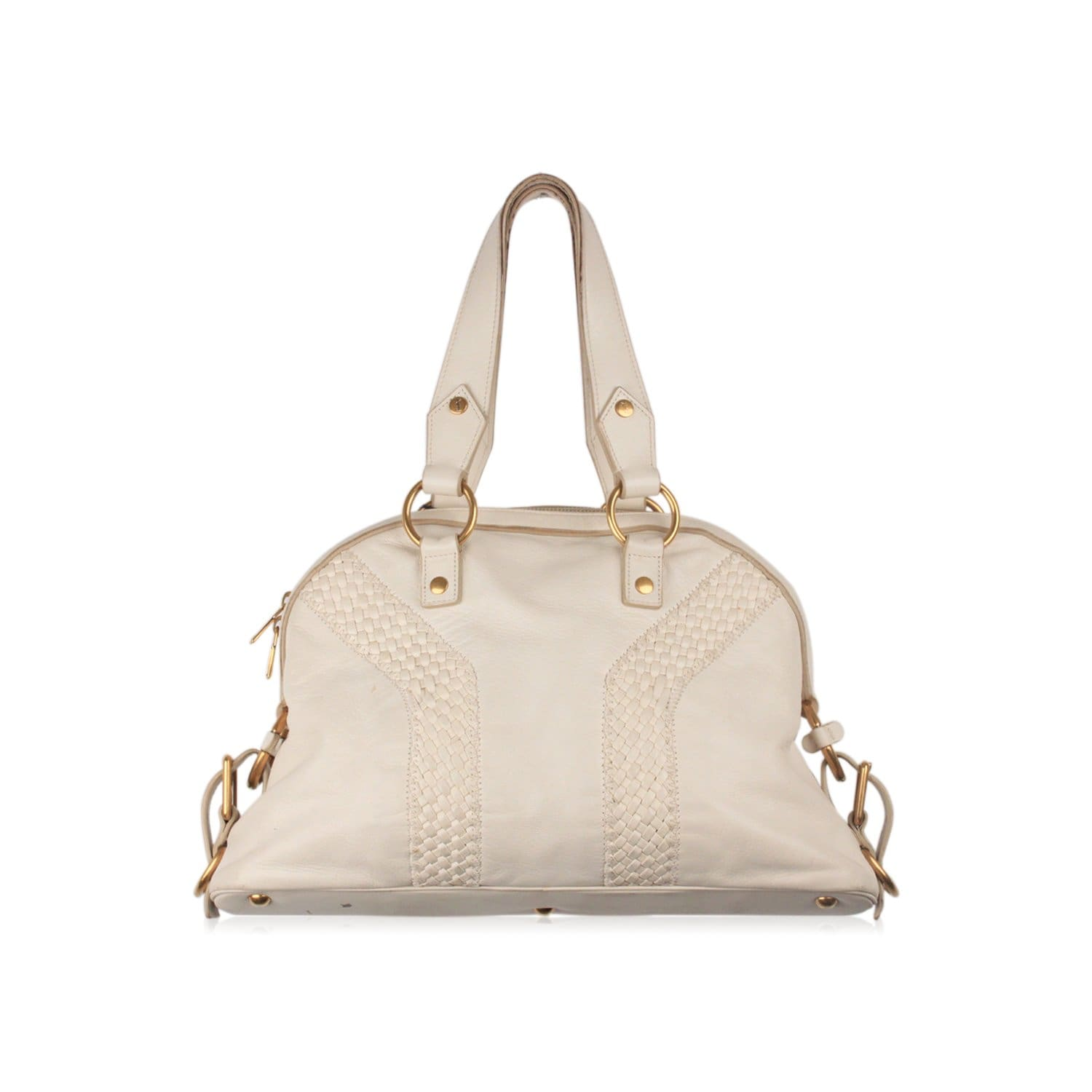 fe409255124a Enjoy YSL White Leather Tote Bag Mod. Muse at OPHERTYCIOCCI ...