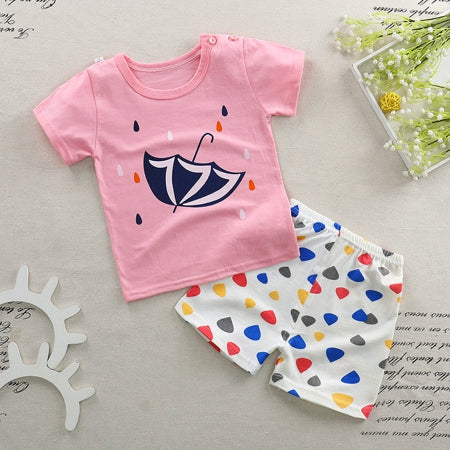 b7072369b Baby Boy Girl Clothes Summer 2018 Newborn Baby Boys Clothes Set Cotton Baby  Clothing Suit Shirt