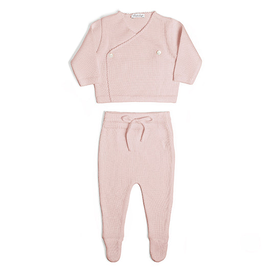 WOOL NEWBORN SET - PINK