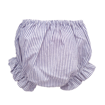 blue and white striped baby bloomers
