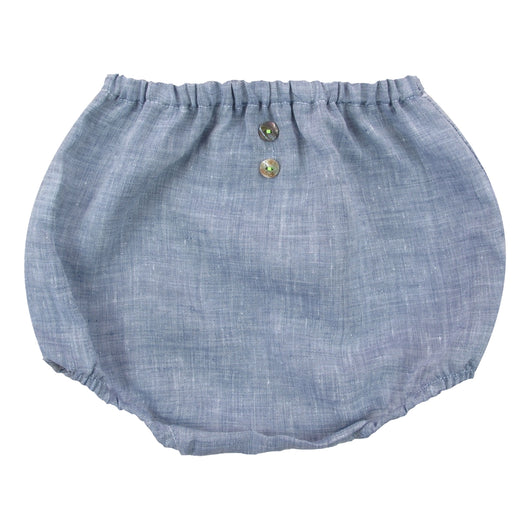 DENIM BLUE LINEN BLOOMERS