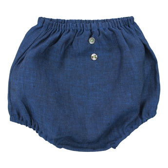 BLUE LINEN BLOOMERS