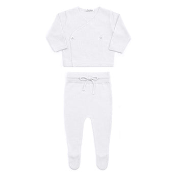 COTTON NEWBORN SET - WHITE