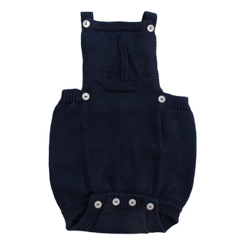 NAVY BLUE KNITTED ROMPER