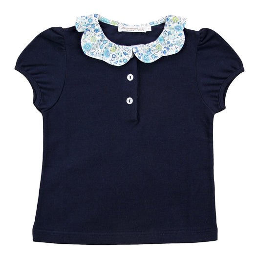 BLUE POLO WITH LIBERTY COLLAR