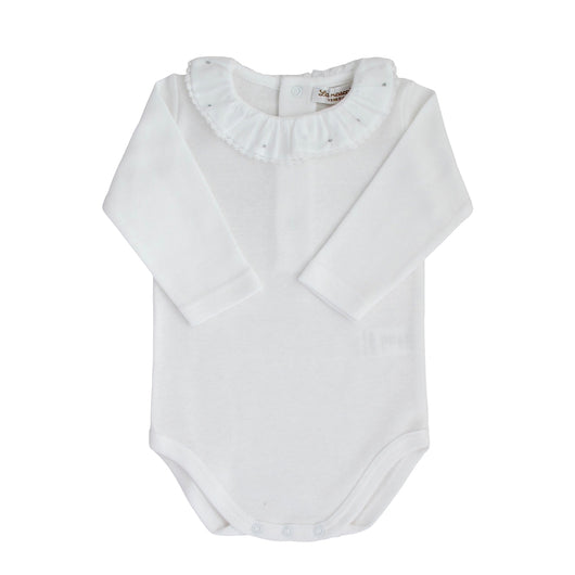 baby body with ruffled collar and embroidery