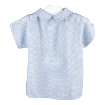Light blue viscose baby blouse