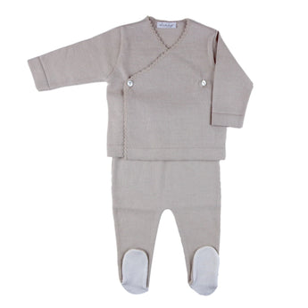 COTTON NEWBORN SET - BEIGE