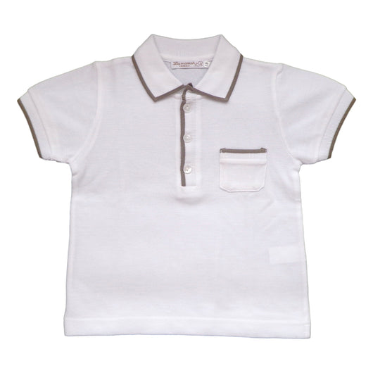 POLO SHIRT WITH TAUPE PROFILE
