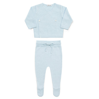 WOOL NEWBORN SET - LIGHT BLUE