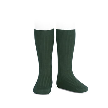 Children green knee-high ribbed socks condor