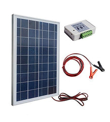 25W Poly Solar Panel Kit W/ High Quality battery clip & 3A controller For Camping