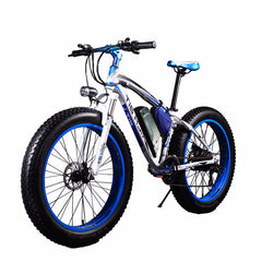 Rich Bit Top-012 Fat Tire Electric Bike, Blue