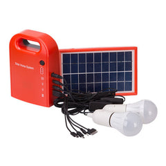 Large Capacity Solar Power Bank with LED Bulbs and USB output