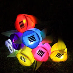 Outdoor Solar Powered Tulip LED Garden Light
