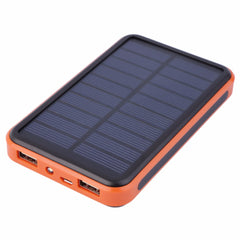 Mobile 5V Solar Power Bank with Dual USB and LED Flashlight