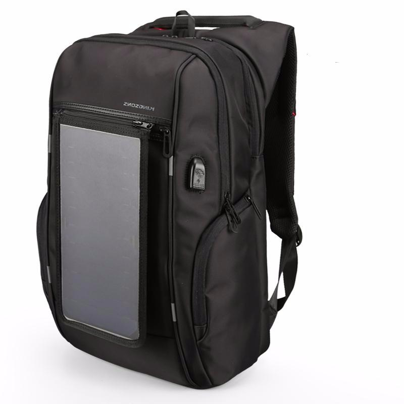 Kingsons City Elite Solar Panel Laptop Backpack with USB Charging