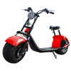 Customizable Harley Style Electric Scooter, Red