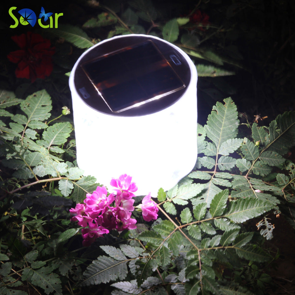 Set of 10 LED Solar Powered Foldable Inflatable Light Lamps