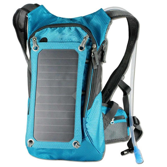 6.5W Multifunctional 2.5L Hydration Solar Panel Backpack