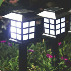 Set of 4 Solar Powered Garden LED Lanterns