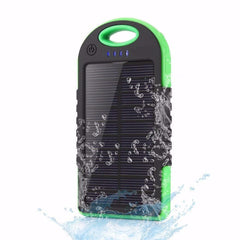 Dual USB 5000mAh Waterproof Solar Power Bank