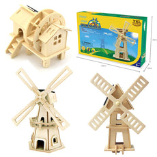 Solar Powered Wooden 3D Puzzle