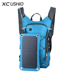 6.5W/6V Solar Panel Backpack incl. USB Charging, Water Bag