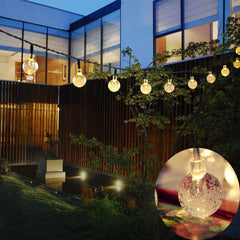 6M 30LED Crystal Ball String Solar Lights, Waterproof