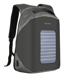 Solar Panel 15.6 Inch Laptop Backpack, Waterproof, USB