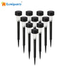 LumiParty Solar Powered LED Pathway Lights, 10 pcs