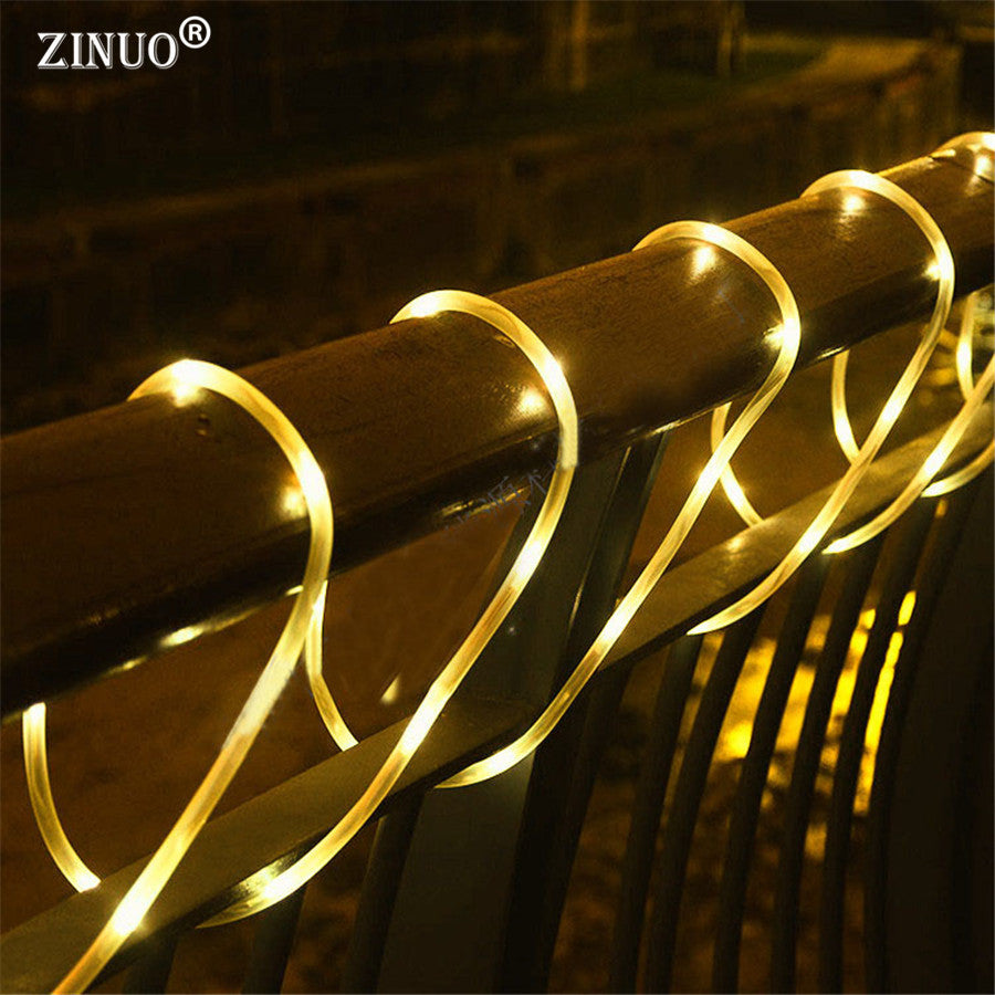 ZINUO 10M 100 LED Outdoor Garden Solar String Fairy Lights