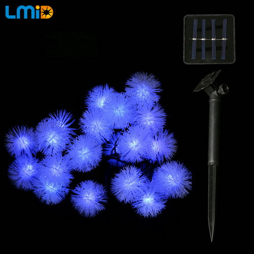 LMID Fairy Snowball Snowflake Garland String Lights, Waterproof