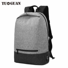 TUGUAN Waterproof Anti Theft Men Laptop Backpack School Bags Casual Travel Large Capacity USB Charge Male Back pack Bagpack Boys