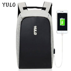 YULO Multifunction USB Charging Men 15inch Laptop Backpacks For Teenager Fashion Male Mochila Leisure Travel Anti-Theft backpack
