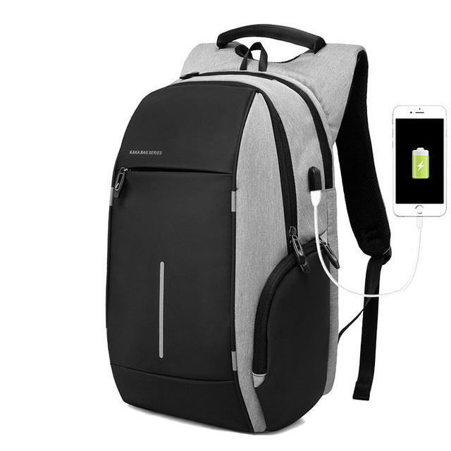 New Oxford Cloth Backpack Mens 20 inch Laptop Backpack External USB Charging Multi-Purpose Anti-Theft Backpack Lady Backpack