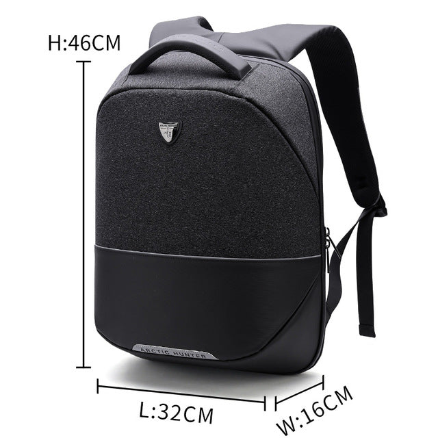 ARCTIC HUNTER  Business Travel USB Backpack Men Anti-theft 15inch Laptop backpack men's Casual Back pack bag Women  B00216