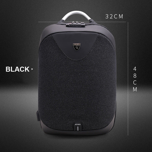 OZUKO 15inch Business Laptop Backpacks Men Luxury Coded Lock Anti-theft Backpack Multifunction USB Charge Casual Male Backpacks