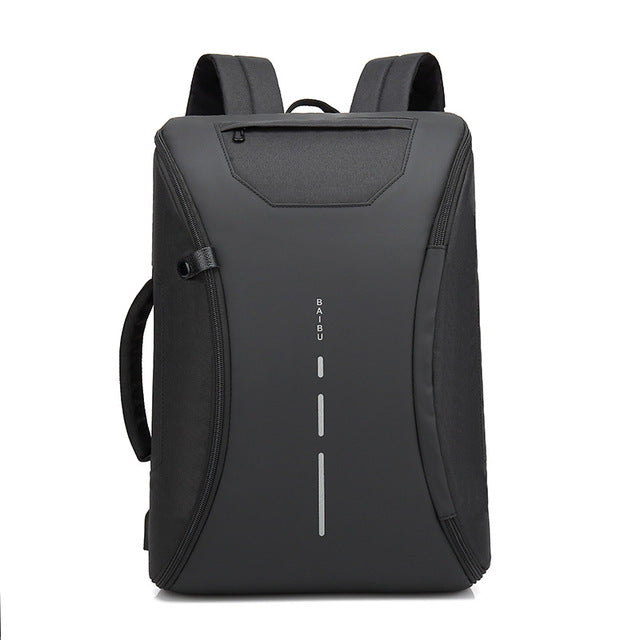 2018 Fashion Backpacks Men's Multifunction Waterproof Travel Backpack USB Charging Anti Theft Laptop Backpack Casual School Bags