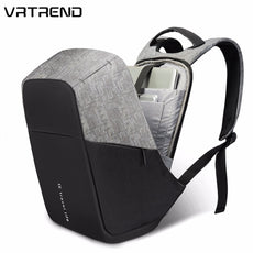 VRTREND Men USB Charging Waterproof Laptop Backpacks For Teenager Fashion Male Mochila Leisure 15inch Anti Theft Travel Backpack