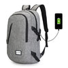 Men's Canvas Waterproof Backpack Teenage Students School Bags Men Male USB Charging Travel Bag Laptop Backpack Mochila XA56WC