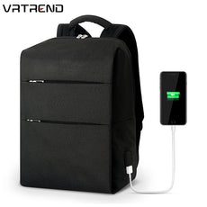 VRTREND High Quality Men 15.6 Inch Laptop Backpack USB Charging Waterproof Travel Backpack Anti-theft School Backpack Bags